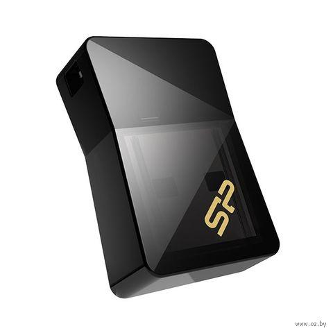 USB Flash Drive 8GB Silicon Power Jewel J08 USB 3.0 Black — фото, картинка