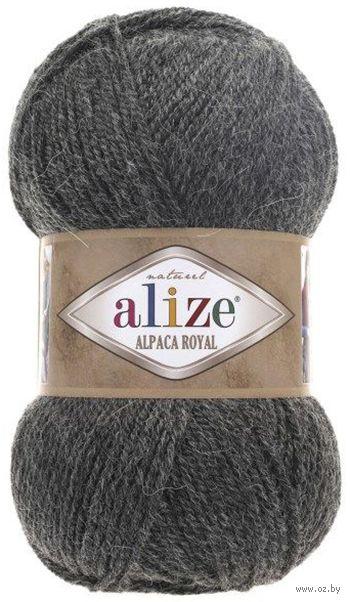 "Пряжа ""ALIZE. Alpaca Royal №182"" (100 г; 250 м; темно-серый) — фото, картинка"