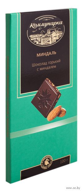 """Шоколад горький """"С миндалем"""" (100 г) — фото, картинка"""