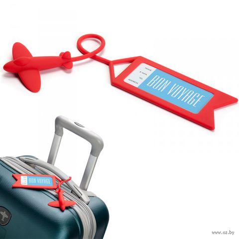 "Бирка для багажа ""Tag me"" (красная)"