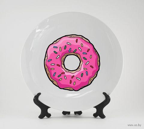 """Тарелка """"Симпсоны. Пончик"""" (630)"""