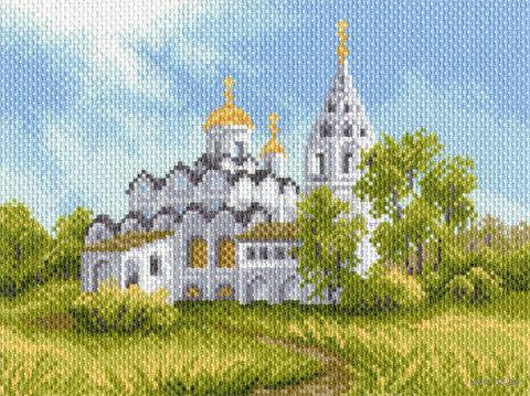"""Канва с нанесенным рисунком """"Белая церковь"""""""