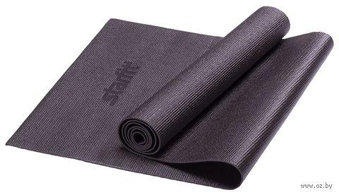 Коврик для йоги FM-101 (173x61x0,3 см; чёрный) — фото, картинка