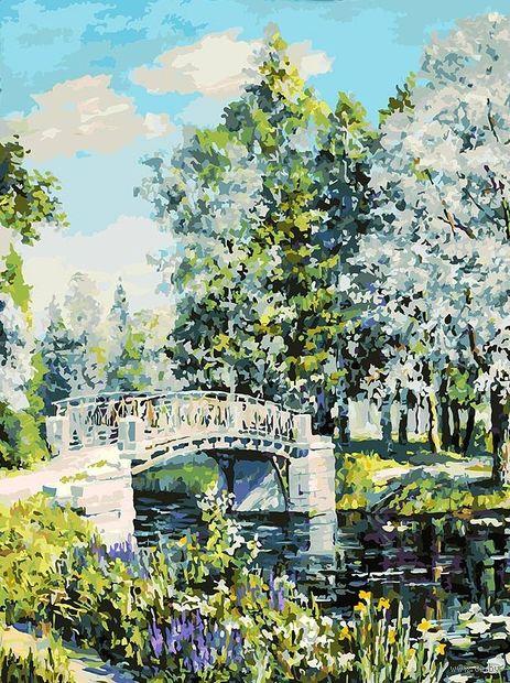 "Картина по номерам ""Мостик в парке"" (300х400 мм) — фото, картинка"