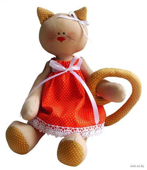 """Набор для шитья из ткани """"Кошечка в платье"""" — фото, картинка"""