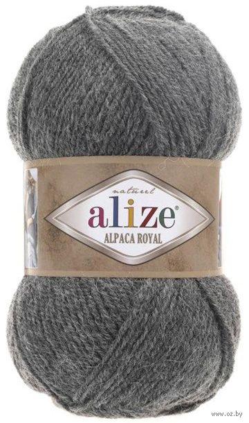 "Пряжа ""ALIZE. Alpaca Royal №196"" (100 г; 250 м; серый) — фото, картинка"