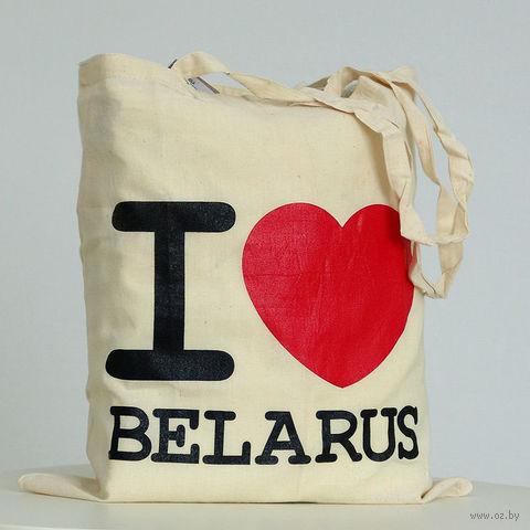"""Сумка с длинными ручками Vitaem """"I LOVE BELARUS"""""""