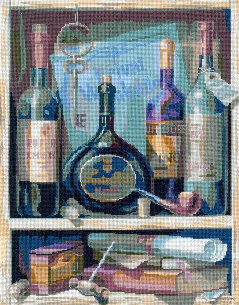 """Вышивка крестом """"Вино"""" (240x330 мм) — фото, картинка"""