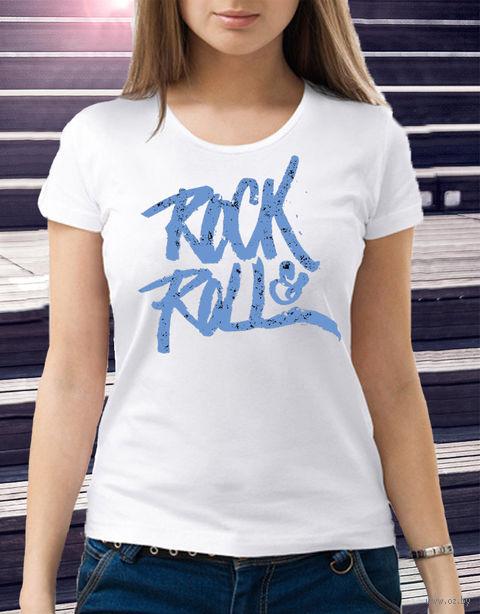 "Футболка женская ""Rock and Roll"" (размер 48; art. 6)"