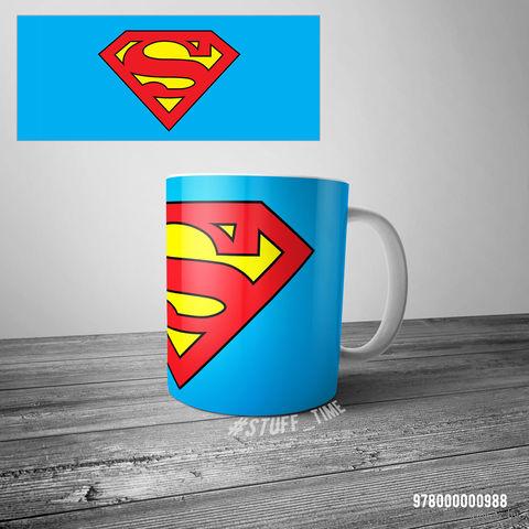 "Кружка ""Супермэн"" (белая; арт. 988) — фото, картинка"