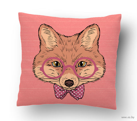 """Подушка маленькая """"Fox"""" (арт. 21; 15х15 см) — фото, картинка"""