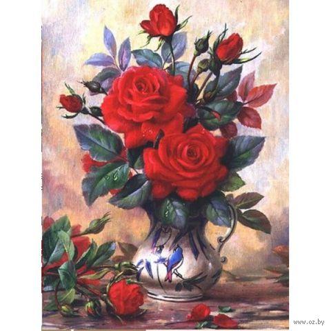 """Алмазная вышивка-мозаика """"Прекрасные розы"""" (300x400 мм) — фото, картинка"""