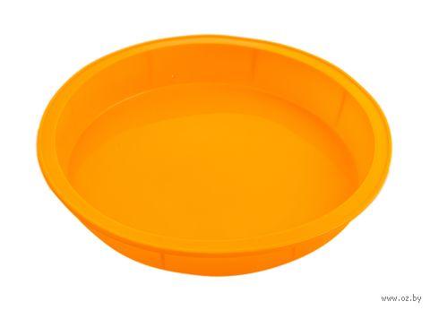Форма для выпекания силиконовая (240x40 мм; оранжевая) — фото, картинка