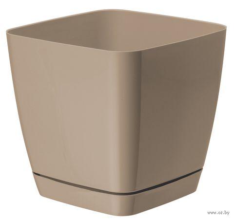 """Цветочный горшок """"Тоскана"""" (15х15х14,5 см; кофе латте) — фото, картинка"""
