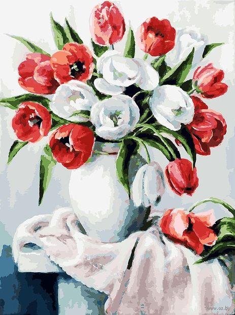 """Картина по номерам """"Красные и белые"""" (400х300 мм) — фото, картинка"""