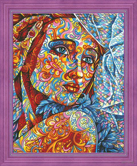 """Картина по номерам """"Витражный портрет"""" (400х500 мм) — фото, картинка"""