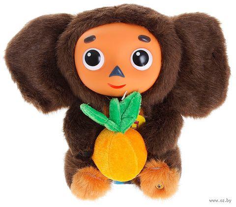 """Мягкая музыкальная игрушка """"Чебурашка с апельсином"""" (17 см) — фото, картинка"""