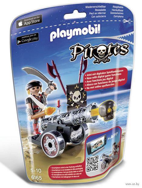 """Игровой набор """"Черная интерактивная пушка с морским пиратом"""" — фото, картинка"""