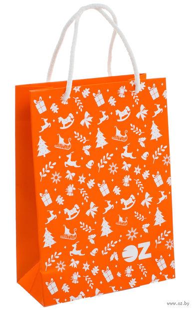 """Пакет подарочный бумажный """"Символы Нового года"""" (15х21,5х8 см)"""