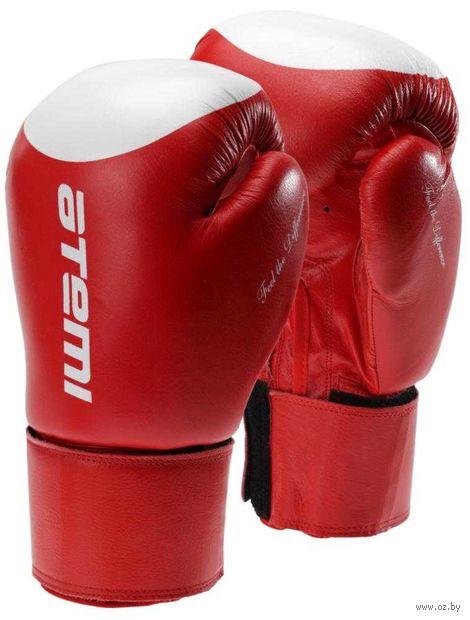 Перчатки боксёрские LTB19009 (12 унций; красно-белые/мишень) — фото, картинка