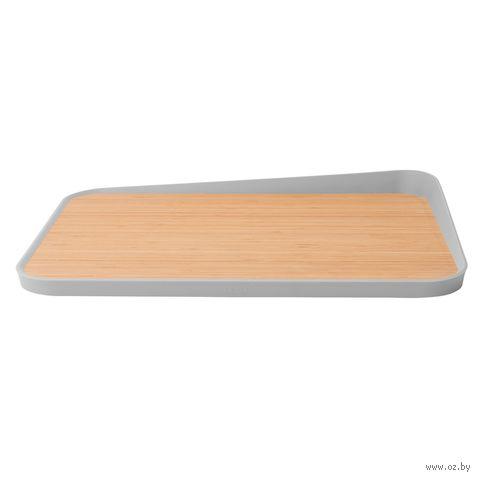 Доска разделочная бамбуковая (410х305х40 мм) — фото, картинка