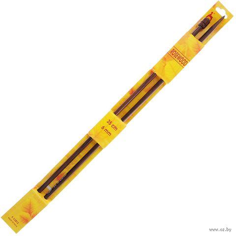 Спицы для вязания (дерево; 6 мм; 35 см) — фото, картинка