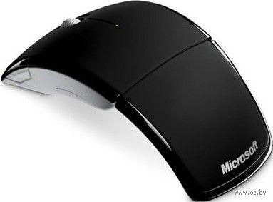 Беспроводная лазерная мышь Microsoft ARC Mouse New (black)