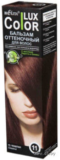"""Оттеночный бальзам для волос """"Color Lux"""" (тон: 11, каштан) — фото, картинка"""