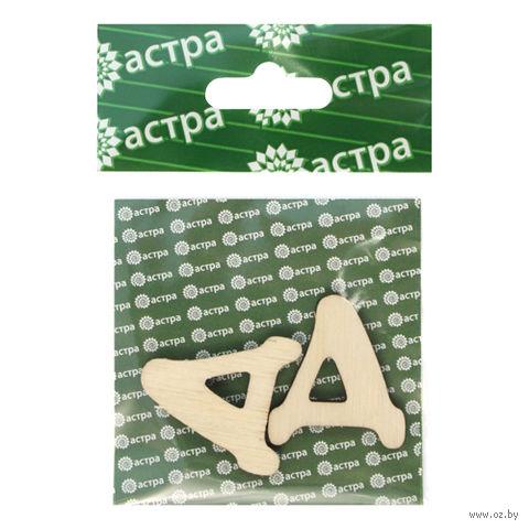 """Заготовка деревянная """"Буква Д"""" (2 шт., 30х27 мм)"""