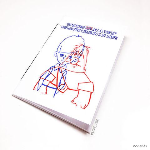 "Блокнот белый ""Бойцовский клуб. Карлсон"" А5 (арт. 499)"
