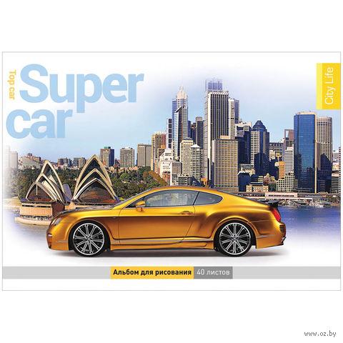 """Альбом для рисования на склейке А4 """"Авто. Car & City"""" (40 листов)"""