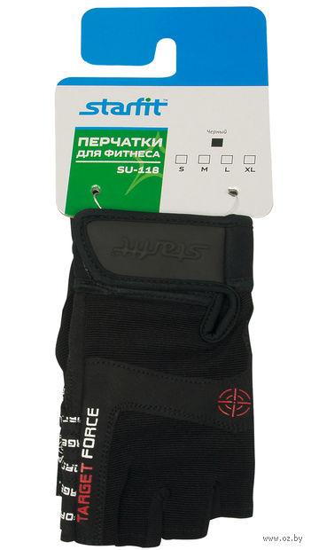Перчатки для фитнеса SU-118 (M; чёрные) — фото, картинка