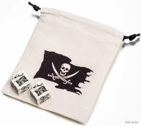 """Набор кубиков """"Pirate Dice & Bag"""" (2 шт.; белый) — фото, картинка"""