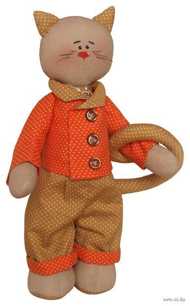 """Набор для шитья из ткани """"Котик в костюме"""" — фото, картинка"""