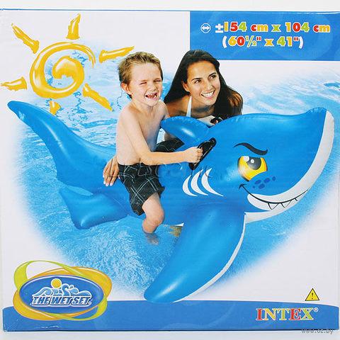 """Приспособление надувное детское с держателями """"Акула"""" (154х104 см; арт. I03210170) — фото, картинка"""