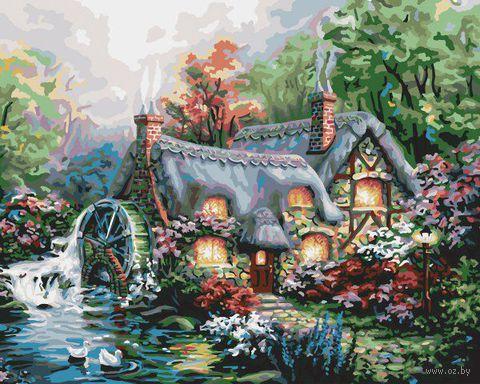 """Картина по номерам """"Уютный коттедж"""" (410х510 мм; арт. PLD-21707)"""