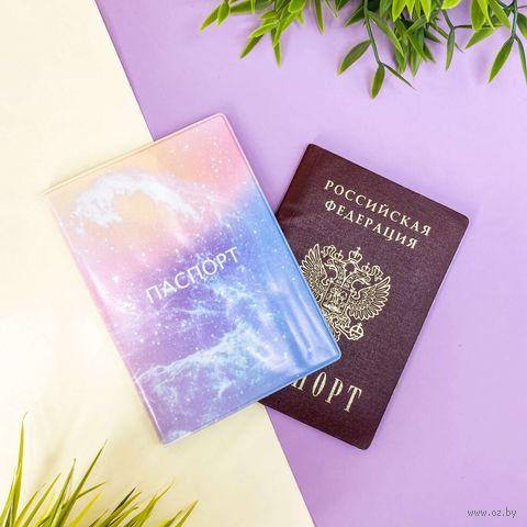 """Обложка для паспорта """"Pink Constellation"""" — фото, картинка"""