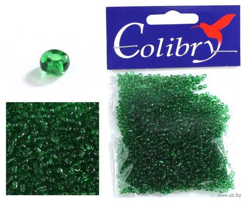 Бисер прозрачный №33 (зеленый, глянцевый)
