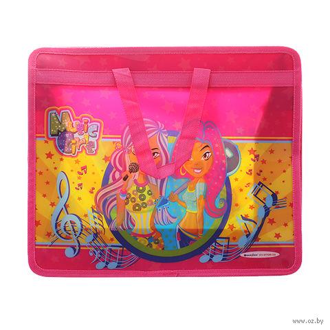 """Портфель на молнии с ручками """"Music Girls"""" (А4; цвет: ассорти; арт. DV-2705-02)"""