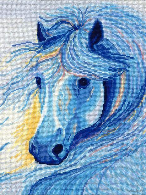 """Набор для вышивания """"Белогривая лошадь"""""""