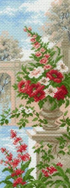 """Канва с нанесенным рисунком """"Цветы в вазе"""""""
