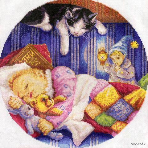 """Вышивка крестом """"Дрема - хранитель детских снов"""" (240x240 мм) — фото, картинка"""