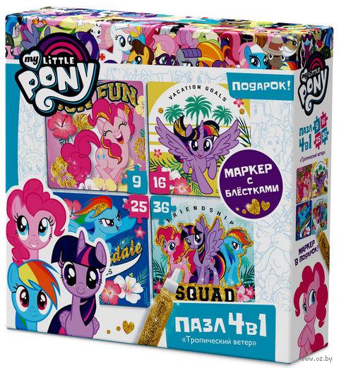 """Набор пазлов """"My Little Pony. Тропические Пони"""" (9+16+25+36 элементов) — фото, картинка"""