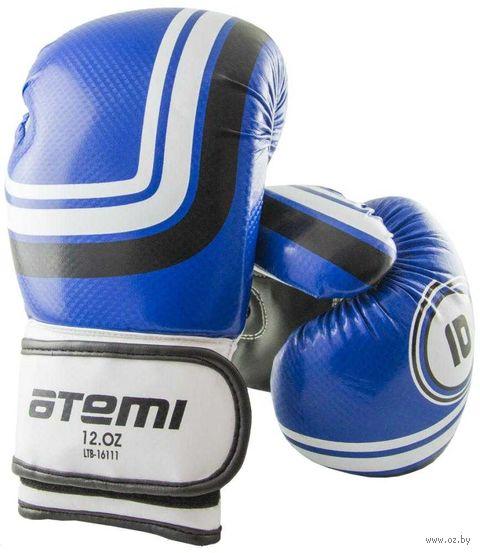 Перчатки боксёрские LTB-16111 (S/M; синие; 10 унций) — фото, картинка