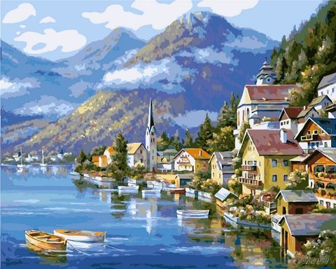 """Картина по номерам """"Хальштадт. Австрия"""" (500х650 мм) — фото, картинка"""
