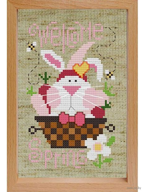 "Вышивка крестом ""Кролик"" (170х120 мм) — фото, картинка"