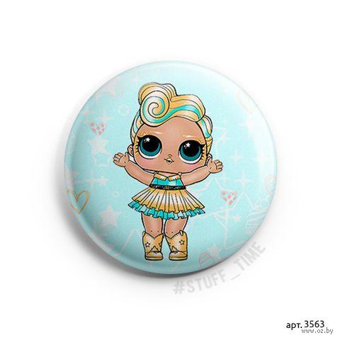 """Значок маленький """"Кукла LOL. Luxe"""" (арт. 3563) — фото, картинка"""