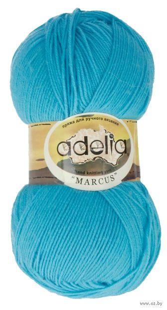 "Пряжа ""Adelia. Marcus №10"" (100 г; 375 м; ярко-голубой) — фото, картинка"