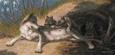 """Вышивка крестом """"Волки"""""""