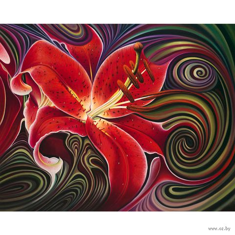 "Алмазная вышивка-мозаика ""Алая фантазия"" (500x400 мм) — фото, картинка"